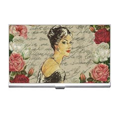 Vintage Girl Business Card Holders by Valentinaart