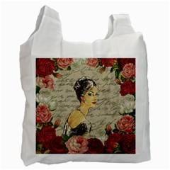 Vintage Girl Recycle Bag (one Side) by Valentinaart