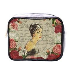 Vintage Girl Mini Toiletries Bags by Valentinaart