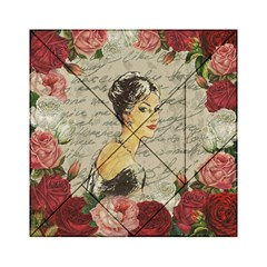 Vintage Girl Acrylic Tangram Puzzle (6  X 6 ) by Valentinaart