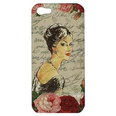 Vintage Girl Apple Iphone 5 Hardshell Case by Valentinaart