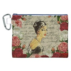 Vintage Girl Canvas Cosmetic Bag (xxl) by Valentinaart