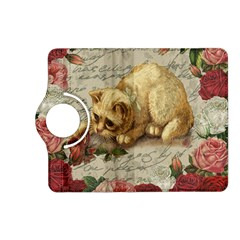 Vintage Kitten  Kindle Fire Hd (2013) Flip 360 Case by Valentinaart