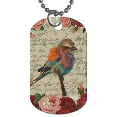 Vintage Bird Dog Tag (two Sides) by Valentinaart