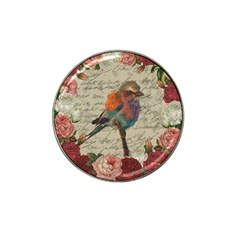 Vintage Bird Hat Clip Ball Marker by Valentinaart