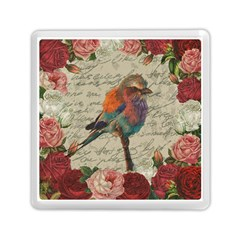 Vintage Bird Memory Card Reader (square)  by Valentinaart