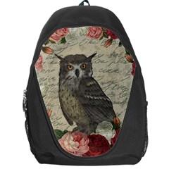 Vintage Owl Backpack Bag by Valentinaart
