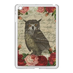 Vintage Owl Apple Ipad Mini Case (white) by Valentinaart