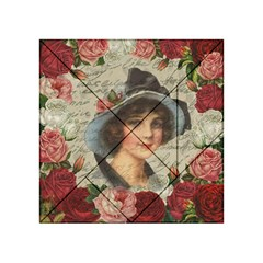 Vintage Girl Acrylic Tangram Puzzle (4  X 4 ) by Valentinaart