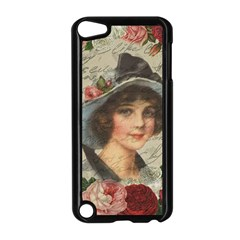 Vintage Girl Apple Ipod Touch 5 Case (black) by Valentinaart
