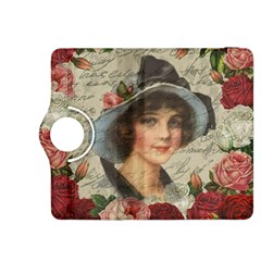 Vintage Girl Kindle Fire Hdx 8 9  Flip 360 Case by Valentinaart