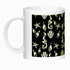 Seahorse Pattern Night Luminous Mugs by Valentinaart
