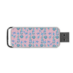 Seahorse Pattern Portable Usb Flash (one Side) by Valentinaart