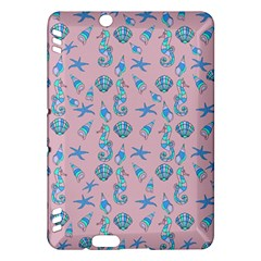 Seahorse Pattern Kindle Fire Hdx Hardshell Case by Valentinaart