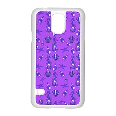 Seahorse Pattern Samsung Galaxy S5 Case (white) by Valentinaart