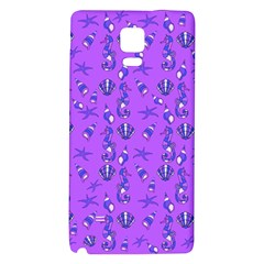 Seahorse Pattern Galaxy Note 4 Back Case by Valentinaart