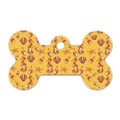 Seahorse Pattern Dog Tag Bone (one Side) by Valentinaart
