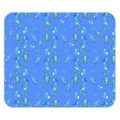 Seahorse Pattern Double Sided Flano Blanket (small)  by Valentinaart