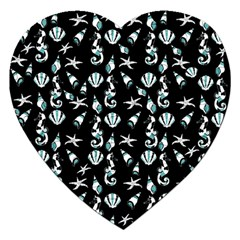 Seahorse Pattern Jigsaw Puzzle (heart) by Valentinaart