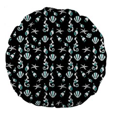 Seahorse Pattern Large 18  Premium Flano Round Cushions by Valentinaart