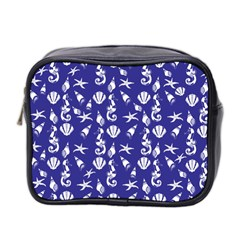Seahorse Pattern Mini Toiletries Bag 2 Side by Valentinaart
