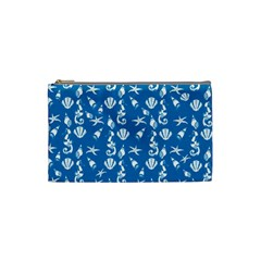 Seahorse Pattern Cosmetic Bag (small)  by Valentinaart