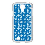 Seahorse pattern Samsung GALAXY S4 I9500/ I9505 Case (White) Front