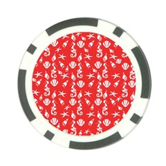 Seahorse Pattern Poker Chip Card Guard by Valentinaart