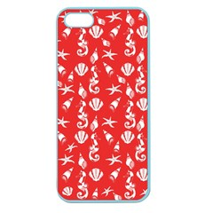Seahorse Pattern Apple Seamless Iphone 5 Case (color) by Valentinaart
