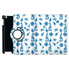 Seahorse Pattern Apple Ipad 3/4 Flip 360 Case by Valentinaart