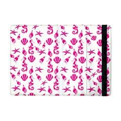 Seahorse Pattern Apple Ipad Mini Flip Case by Valentinaart