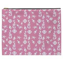 Seahorse Pattern Cosmetic Bag (xxxl)  by Valentinaart