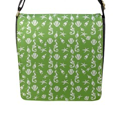Seahorse Pattern Flap Messenger Bag (l)  by Valentinaart