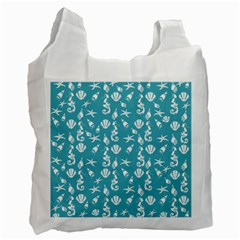 Seahorse Pattern Recycle Bag (one Side) by Valentinaart