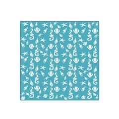 Seahorse Pattern Satin Bandana Scarf by Valentinaart