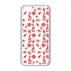 Seahorse Pattern Apple Iphone 5c Seamless Case (white) by Valentinaart