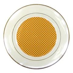 Polka Dots Porcelain Plates by Valentinaart