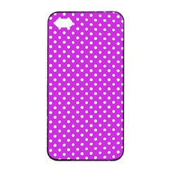 Polka Dots Apple Iphone 4/4s Seamless Case (black) by Valentinaart