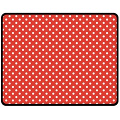 Polka Dots Fleece Blanket (medium)  by Valentinaart