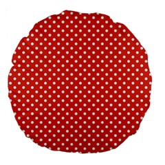Polka Dots Large 18  Premium Round Cushions by Valentinaart