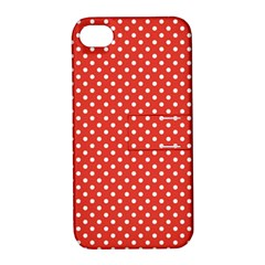 Polka Dots Apple Iphone 4/4s Hardshell Case With Stand by Valentinaart