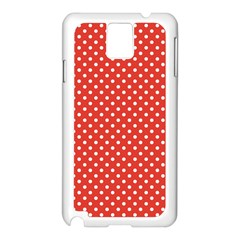 Polka Dots Samsung Galaxy Note 3 N9005 Case (white) by Valentinaart