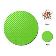 Polka Dots Playing Cards (round)  by Valentinaart