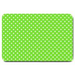 Polka Dots Large Doormat  by Valentinaart