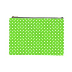 Polka Dots Cosmetic Bag (large)  by Valentinaart