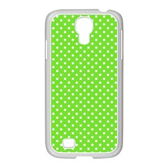 Polka Dots Samsung Galaxy S4 I9500/ I9505 Case (white) by Valentinaart