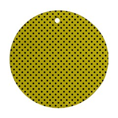 Polka Dots Round Ornament (two Sides) by Valentinaart