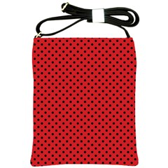 Polka Dots Shoulder Sling Bags by Valentinaart