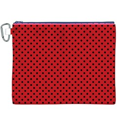 Polka Dots Canvas Cosmetic Bag (xxxl) by Valentinaart
