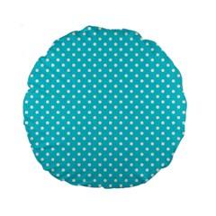 Polka Dots Standard 15  Premium Round Cushions by Valentinaart